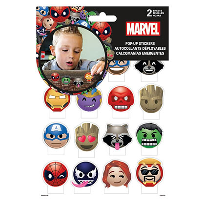 Marvel Emoji Pop Up Stickers