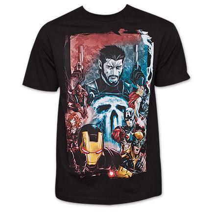 Marvel Team-Ups Punisher War Zone T-Shirt - Black