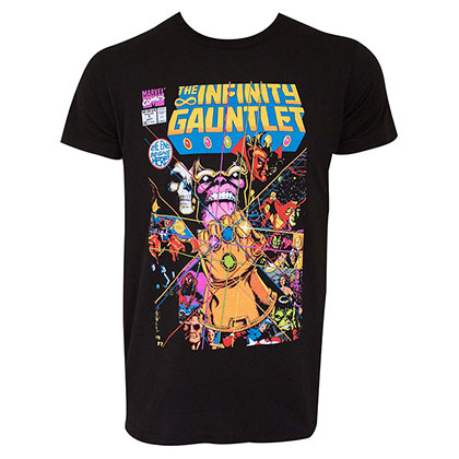 Marvel Men's Black Infinity Gauntlet T-Shirt