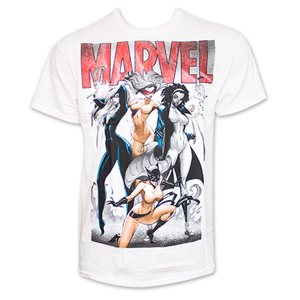Marvel Female Heros Group Tee - White