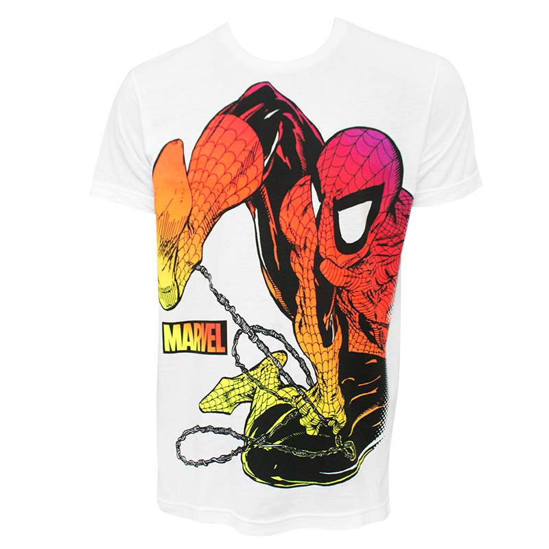 Spider-Man Chromatic Men's White Tee Shirt