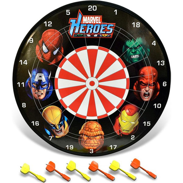 Marvel Heroes Magnetic Dart Board