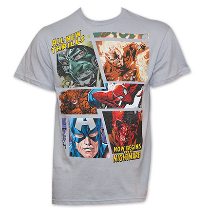 Marvel All New Thrills T Shirt - Gray