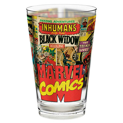 Marvel Comics 22oz Kids Plastic Drinking Glass