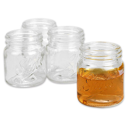 Mason Jar 2.5 Inch Liquor Shot Glasses 4-Pack