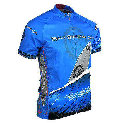 Maui Brewing Company Big Swell Mens Zip-Up Cycling Jersey