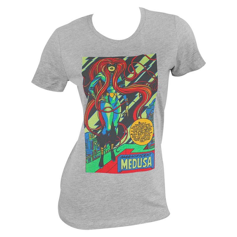 Marvel Medusa Blacklight Women's Grey Tee Shirt