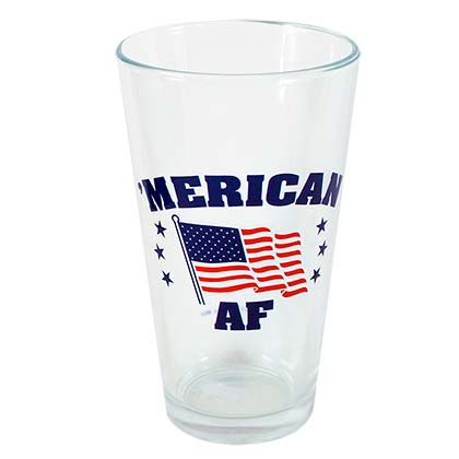 'Merican AF Patriotic USA Pint Glass