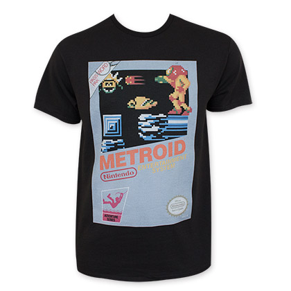 Nintendo Men's Black Classic Metroid Tee Shirt