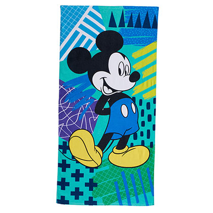 Mickey Mouse Retro Style Blue Beach Towel