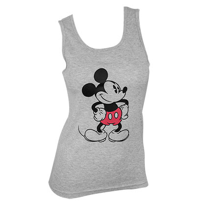 Mickey Mouse Ladies Grey Tank Top