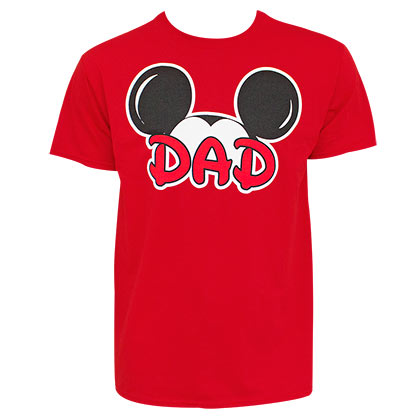 Mickey Mouse Ears Dad Red Tshirt