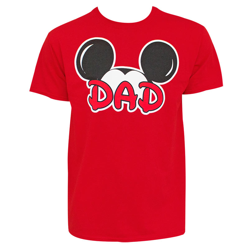 Mickey Mouse Dad Red Tshirt