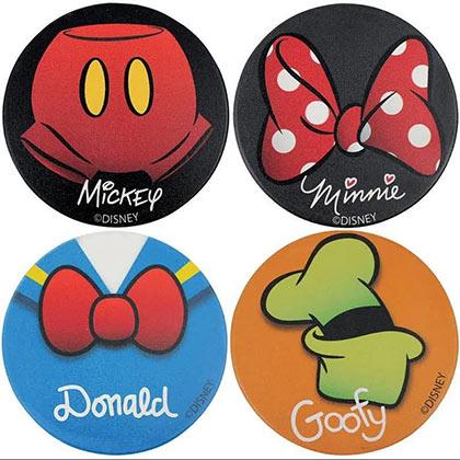 Walt Disney Character Coasters 4-Pack