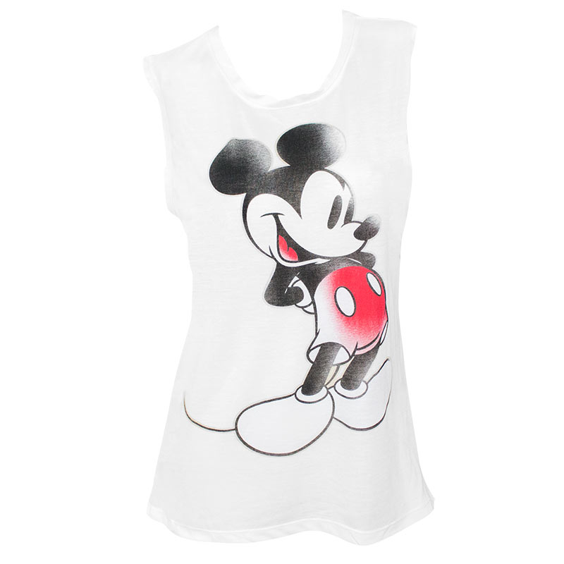 Mickey Mouse Vintage Women's White Muscle Tank Top