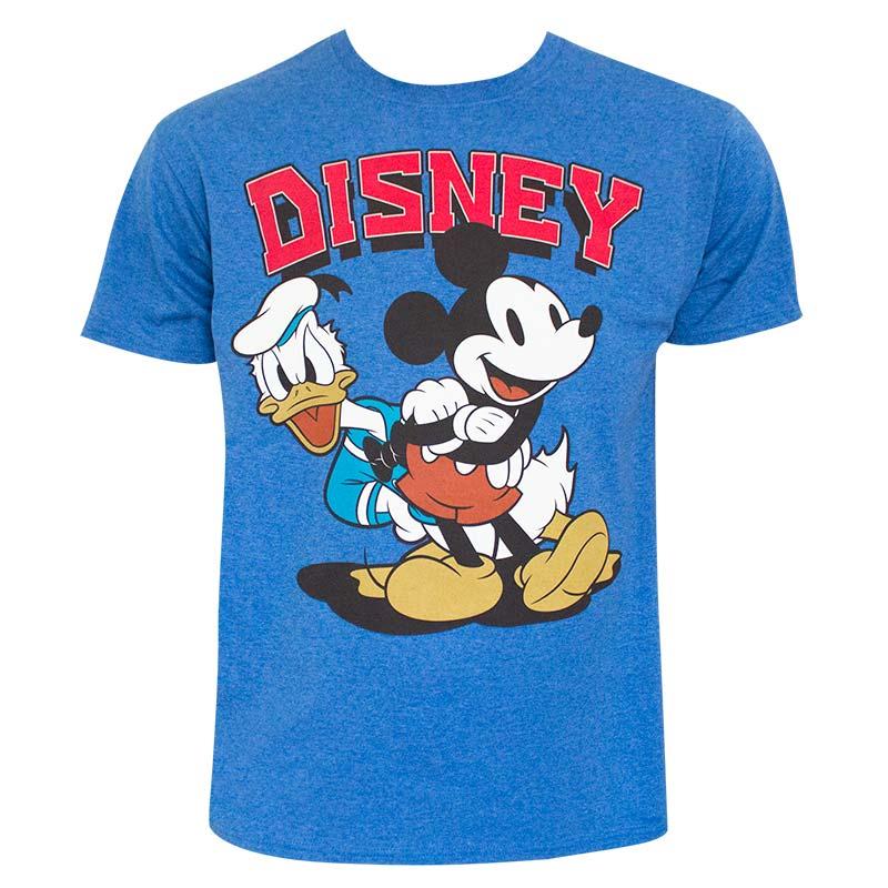 Disney Mickey And Donald Blue Tee Shirt