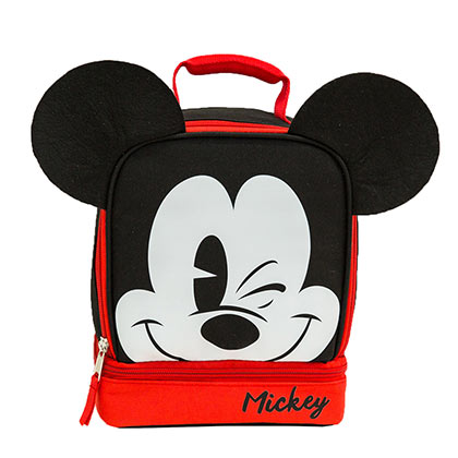 Mickey Mouse Double Compartment Insulated Lunch Bag