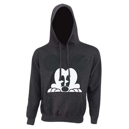 Mickey Mouse Men's Grey Peaking Mickey Hoodie