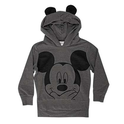 Mickey Mouse Youth Grey Ears Costume Hoodie