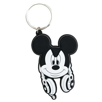 Mickey Mouse Rubber Keychain