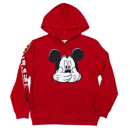 Mickey Mouse Youth Boys 8-20 Red Hush Hoodie