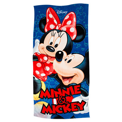Disney Mickey & Minnie Mouse Blue Beach Towel