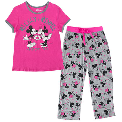 Minnie Mouse Ladies Pajama Set