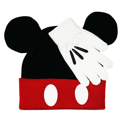 Mickey Mouse Glove And Black Hat Set