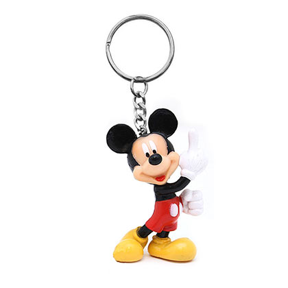 Disney Mickey Mouse Cartoon Plastic Keychain
