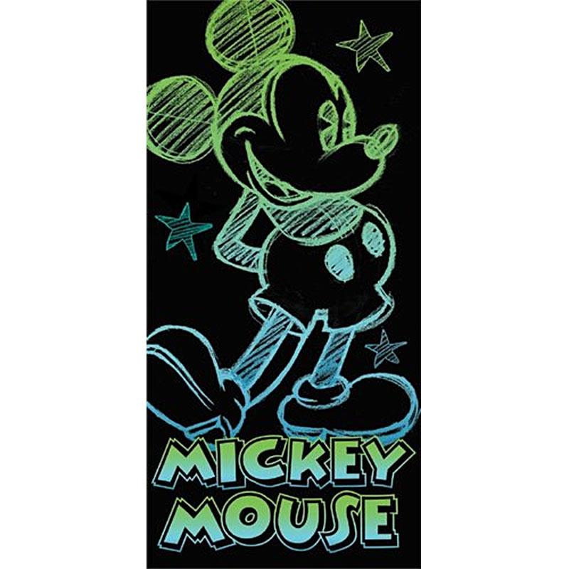 Disney Mickey Mouse Glow 28x58 Black Beach Towel