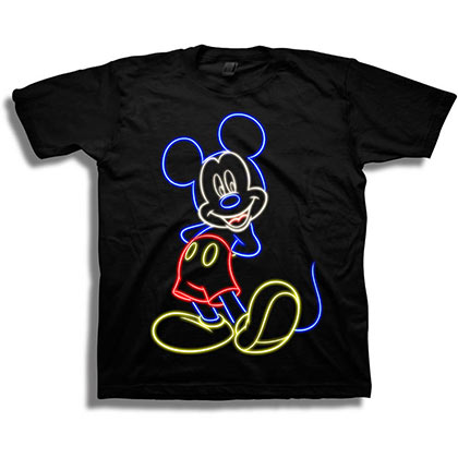 Mickey Mouse Youth Black Neon T-Shirt