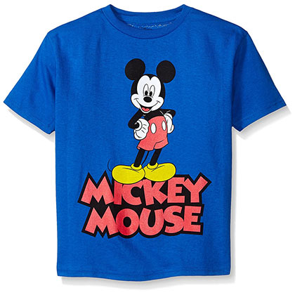 Mickey Mouse Classic Boys Youth Blue Tshirt