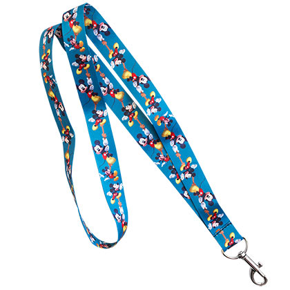 Mickey Mouse Blue Rope Lanyard