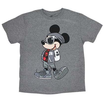 Mickey Mouse Urban Youth Boys 8-20 Gray T-Shirt