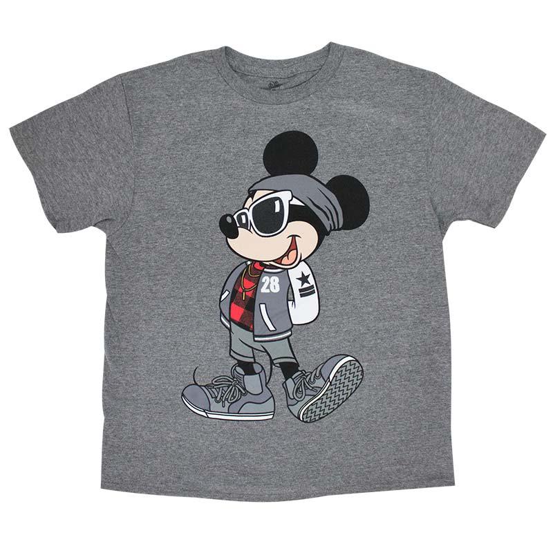Mickey Mouse Urban Youth Boys 8-20 Grey TShirt