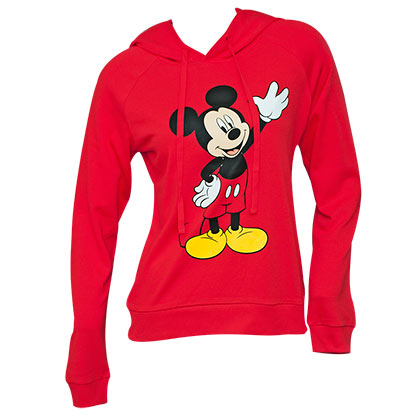 Mickey Mouse Women's Red Hoodie