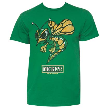 Mickey's Men's Green Stinger T-Shirt