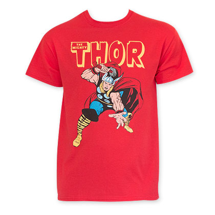 Thor Red Comic Book T-Shirt