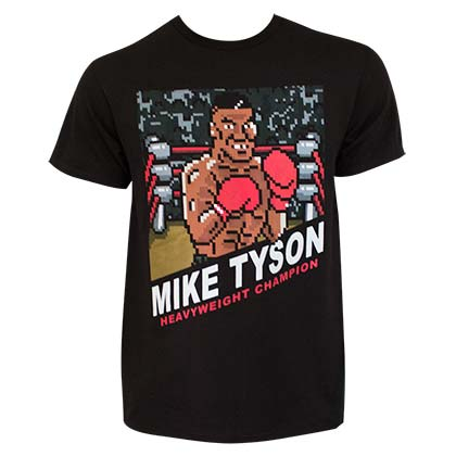 Nintendo Men's Black Mike Tyson Punch Out Champion T-Shirt