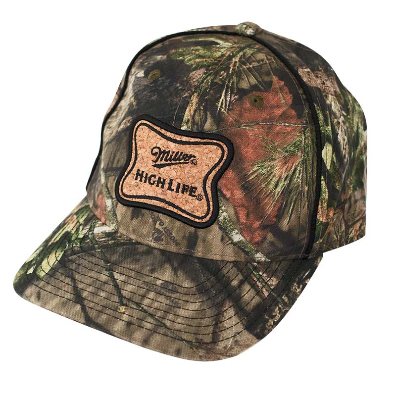 Miller High Life Cork Patch Camo Hat