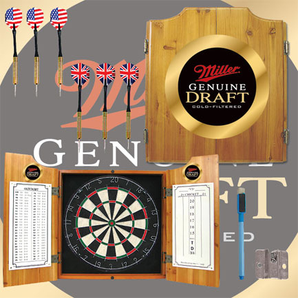 Miller Genuine Draft Dart Board Cabinet  (FREE SHIPPING)