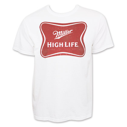 Miller High Life Logo Men's White T-Shirt