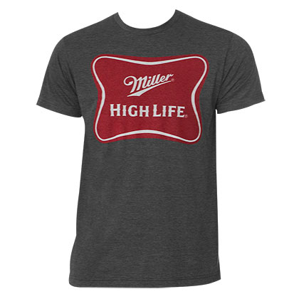 Miller High Life Men's Grey Beer Logo T-Shirt