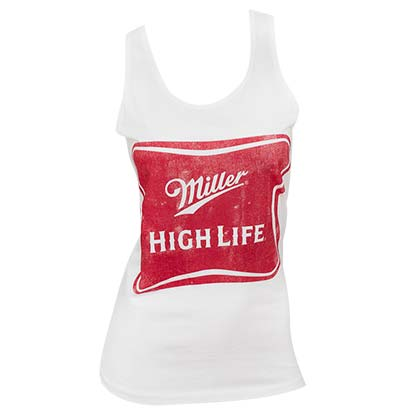 Women's Miller High Life Beer White Tank Top