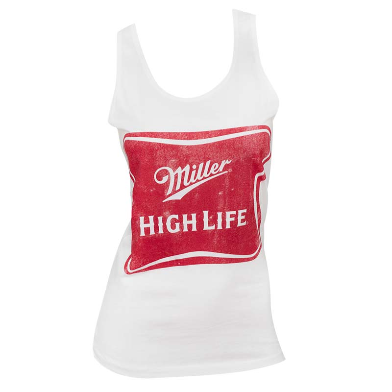 Women's Miller High Life White Tank Top