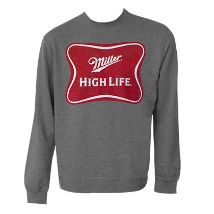 Miller High Life Grey Crewneck Sweatshirt
