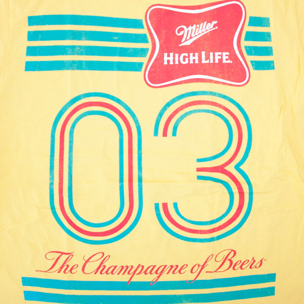 Miller High Life Yellow Shirt