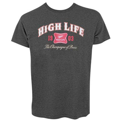 Miller High Life 1903 Logo Mens Dark Gray Tee Shirt