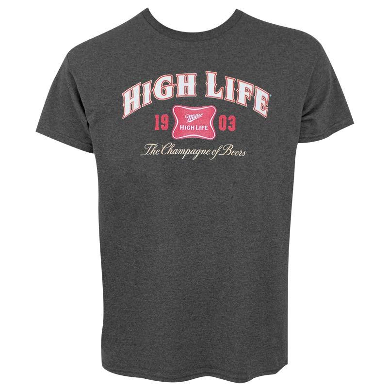 Miller High Life 1903 Logo Mens Dark Gray Tee Shirt