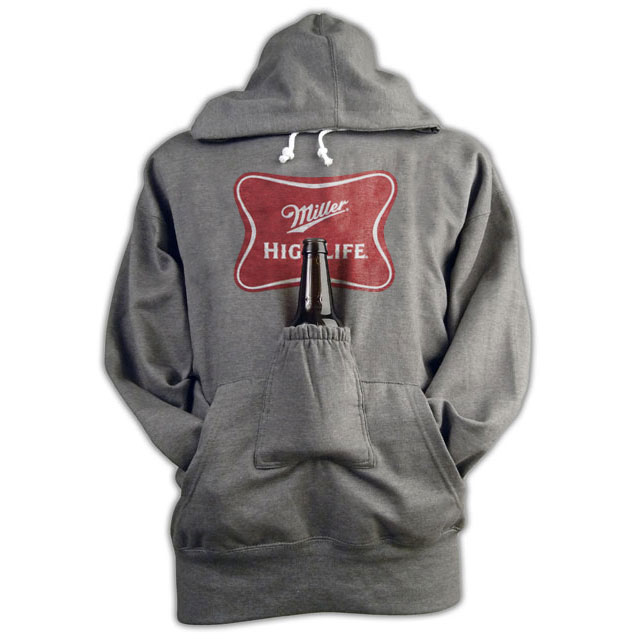 Miller High Life Beer Pouch Hoodie